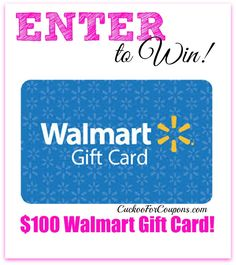 {Giveaway} Win a $100 Walmart Gift Card from Ebates!