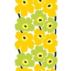 Marimekko Unikko Yellow / Lime PVC-Coated Cotton Fabric  $54.00