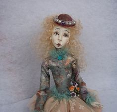 Madlen Art doll- OOAK doll- Paper clay doll- Handmade doll-Air dry clay doll- Collecting doll