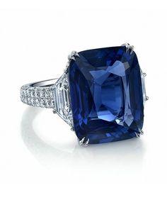 http://rubies.work/0454-sapphire-ring/ Martin Katz 14.60 carat Ceylon Cornflower Blue Sapphire Ring                                                                                                                                                     More