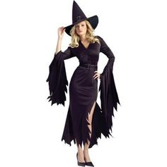 Gothic Witch Adult Halloween Costume Womenu0027s Size Medium/Large Multicolor  sc 1 st  Pinterest & DIY sexy witch costume #halloween | Halloween | Pinterest | Witch ...