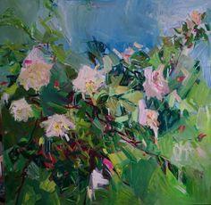 Original Garden Painting by Lilia Orlova-holmes Garden Painting, Oil Painting On Canvas, Canvas Art, Art Floral, Floral Flowers, Green Flowers, Bloom And Wild, Original Art, Original Paintings