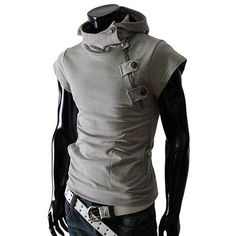 - Mens edgy hoodie shirt for the stylish fashionista - Trendy design offers a unique stylish look - Great for the workplace or casual outings - Made from high quality material - Available in 5 colors