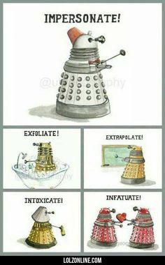 The Rich Language Of A Dalek#funny #lol #lolzonline