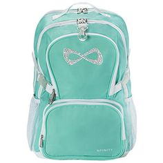 Light Teal Nfinity Princess Backpack by Cheerleading Company