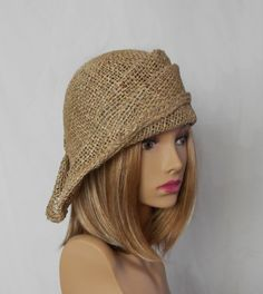 Ava seagrass side drape millinery hat womens straw door LuminataCo