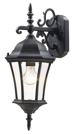 View the Z-Lite 522S Wakefield 1 Light Outdoor Wall Sconce with Clear Beveled Shade at LightingDirect.com.