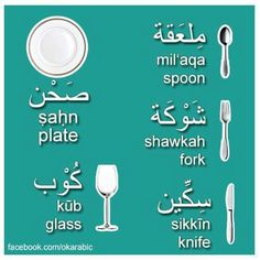 Arabic plate glass & utensils