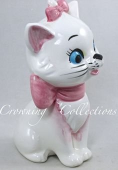 Enesco Marie THE Aristocats Walt Disney Productions Figurine Ceramic Kitten CAT | eBay