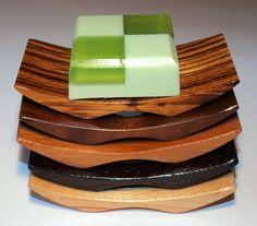 Modern Design Hardwood Soap Dish. $12.00, via Etsy.