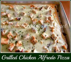 The Country Cook: Grilled Chicken Alfredo Pizza