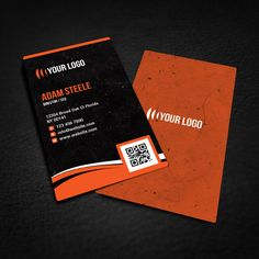 Free Rounded Corner Business Card Design Cartes De Visite Uniques Verticales