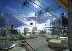 Fantastic Glass Houses by Carlo Santambrogio and Ennio. Now THATS a view!