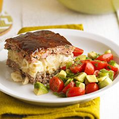 #8: Layer pasta in a Meat Loaf....Make spicy Mexican meat loaf more lovable with a dose of cheesy pasta. The layer of mac and cheese baked into the meat loaf makes the poblano-studded beef more moist and gives every bite a mix of textures and flavors.