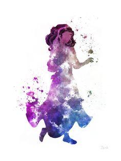 Esmeralda, illustration du bossu de Notre Dame ART imprimer, Disney, technique mixte, Home Decor, pépinière, Kid,