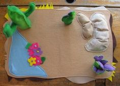 Felt desert play mat.  I am thinking of these for the boys for Christmas this year!