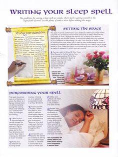 Writing your sleep spell