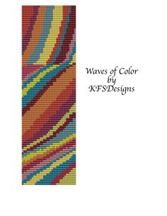 Free Loom Bead Patterns | Peyote Stitch Beading Pattern - Waves of Color