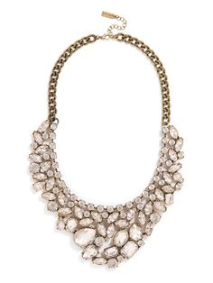 With its grand cluster of over-sized crystals — all elegant shapes and sizes — this necklace is both sophisticated and oh-so-glam. #baublebar #swatstyle #statement #necklace