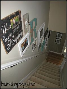 home happy home: staircase GALLERY WALL