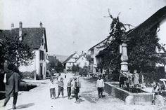 Dorfzentrum Albisrieden 1905 Present Day, Interior And Exterior, 19th Century, Street View, Park, History, City, Places, Nature