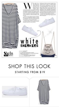 """Bright White Sneakers"" by aurora-australis ❤ liked on Polyvore featuring Rayure, Sheinside and whitesneakers"