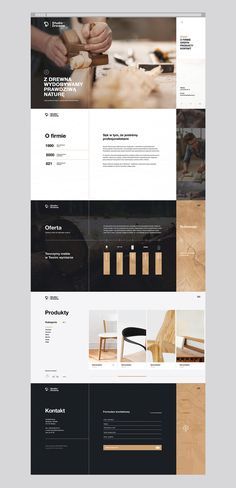 """""""From wood we extract the true nature""""Studio Drewna is a family business with a long tradition and years of experience. It is a company that designs and creates premium handmade wooden furniture.The scope of our work included the creation of a logo, c…"""