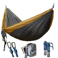 Winner Outfitters Double Camping Hammock Lightweight Nylon Portable Hammock Best Parachute Double Hammock For Backpacking Camping Travel Beach Yard x -- To view further for this item, visit the image link. (This is an affiliate link) Best Camping Hammock, Portable Hammock, Tent Camping, Camping Gear, Outdoor Camping, Camping Checklist, Camping Outdoors, Outdoor Travel, Outdoor Gear