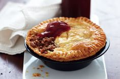 Classic Aussie Meat Pie Recipe    http://www.taste.com.au/recipes/24551/aussie+meat+pies