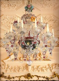 18th c. Murano chandelier at Dumfries House - definitely not my style but sooo incredible!