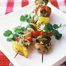 Gemüse-Tofu-Spießchen