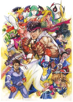 Classic Character Poster Tatsunoko vs Capcom - Ultimate All-Stars