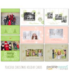 Peaceful Christmas Holiday Card Photoshop Templates Collection by Prairie Sweet Boutique – Prairie Sweet Boutique
