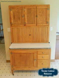 Antique Bakers CabinetOAK HOOSIER KITCHEN CABINET 149500