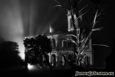Mintaro of Monegeetta - Architecture Photography - Creative Worlds of James Cole Gates Of Hell, Historical Architecture, Black And White Photography, Horror Movies, I Movie, Light In The Dark, My Arts, History, World