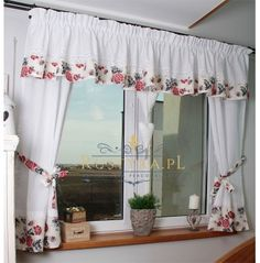 Living Room Decor Curtains, Home Curtains, Valance Curtains, Kitchen Furniture, Furniture Design, Flower Embroidery Designs, Plant Decor, Shabby Chic, Pillows