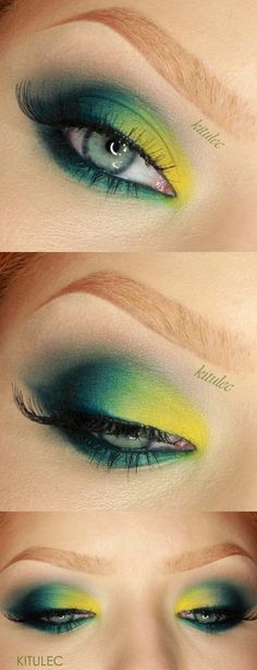 Makeup Tutorials for Green Eyes -Sleek Del Mar II – Bold Bright green Eyes Makeup Tutorial -Easy Eyeshadow Video and Tutorial Ideas - Natural Everyday Step by Step Beauty Tricks - Simple Looks for Night and Day thegoddess.com/makeup-tutorials-green-eyes