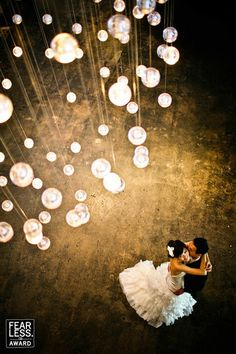 amazing overhead wedding image