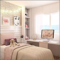 125 small bedroom ideas that are look stylishly & space saving -page 28 Room Design Bedroom, Girl Bedroom Designs, Bedroom Layouts, Small Room Bedroom, Home Room Design, Home Bedroom, Bedroom Decor, Bedroom Ideas, Bedrooms