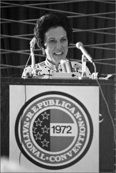 1972 Republican National Convention | In a Sunday August 20, 1972 file photo, Anne Armstrong tries the ...
