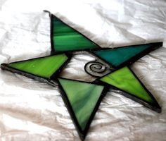 Stained glass STAR Christmas decoration by CreativeGlassStudio, $25.00