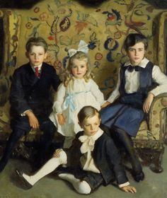 Harrington Mann A Family Portrait of Four Children painting is shipped worldwide,including stretched canvas and framed art.This Harrington Mann A Family Portrait of Four Children painting is available at custom size. Family Portrait Painting, Portrait Art, Family Portraits, Portrait Paintings, Art Paintings, Portrait Cartoon, Portrait Poses, Portrait Ideas, Vintage Boy Names