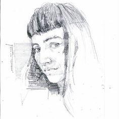 #portrait #drawing #sketch #pen #art #paü #adu