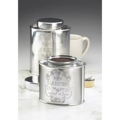 Le Bistro Oval Stainless Steel Canisters