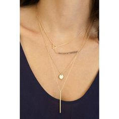 Stylish Solid Color Pendant Layered Necklace For Women