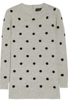 cashmere polka dots- the ultimate in playful luxury