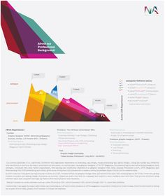 MY Resumé (infographics) by Nasim Acuña, via Behance