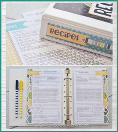 Looking for a DARLING way to organize your recipes? This super cute FULL-SIZED printable binder kit comes with 15 Category/Divider Binder Organization, Recipe Organization, Organisation Hacks, Homemade Recipe Books, Diy Recipe Book, Family Recipe Book, Family Recipes, Family Meals, Scrapbook Recipe Book