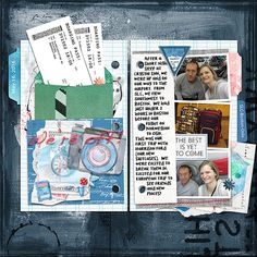 Here are four templates for digital scrapbooking. These are travel inspired templates designed to have the look of opened ring binder pages. Photos and papers are taped and clipped together. Tabs and labels peek out on the edges. You will also find some globe/map shapes and...