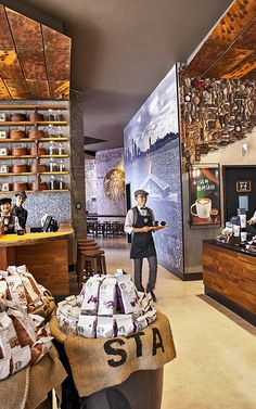Starbucks store in China Starbucks Shop, Starbucks Humor, Starbucks Coffee, Cafe Restaurant, Restaurant Design, Central Cafe, Coffee Store, Restaurants, Coffee Shop Design